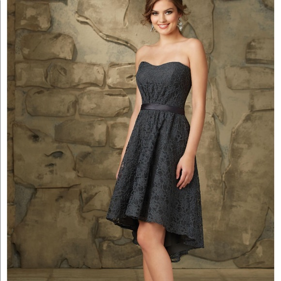 17862685bd81 Mori Lee Dresses   Lace Morilee Bridesmaid Dress With Hilow Hemline ...
